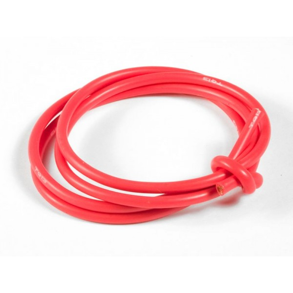 TQ Wire Products 13 Gauge Super Flexible Wire 3ft, Red