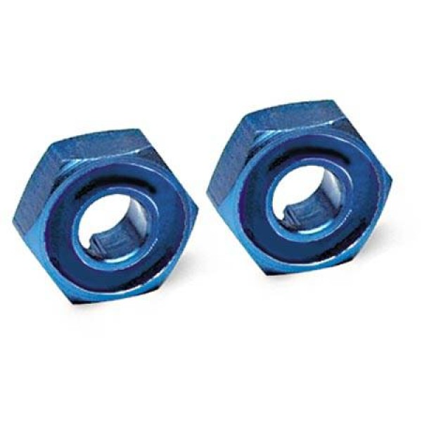 Traxxas 12mm Hex Aluminum Wheel Hub (Blue) (2)