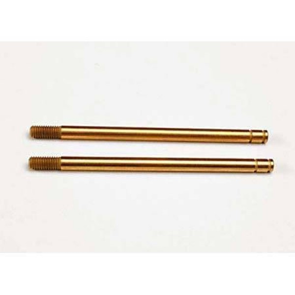 Traxxas Shock shafts hardened steel titanium nitride coated (xx-long) (2)