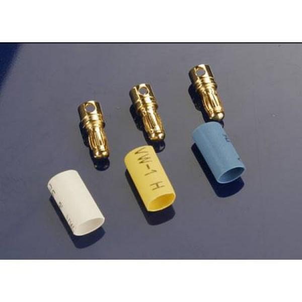 Traxxas Bullet Connectors Male 3.5mm Heat Shrink (3)