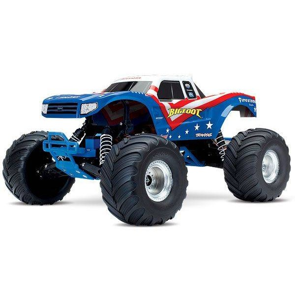 Traxxas Bigfoot 1/10 Scale Replica Monster Truck, RED / WHITE / BLUE