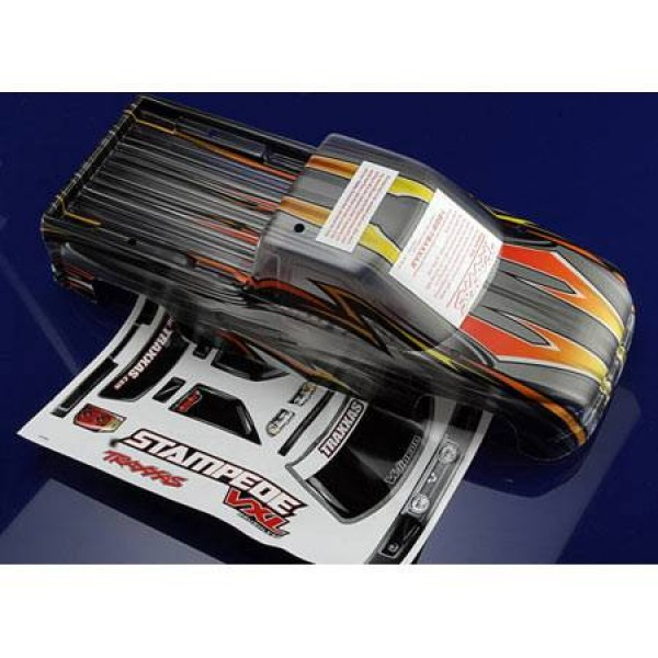 Traxxas Body Stampede VXL Window Grill Lights Decal Sheet