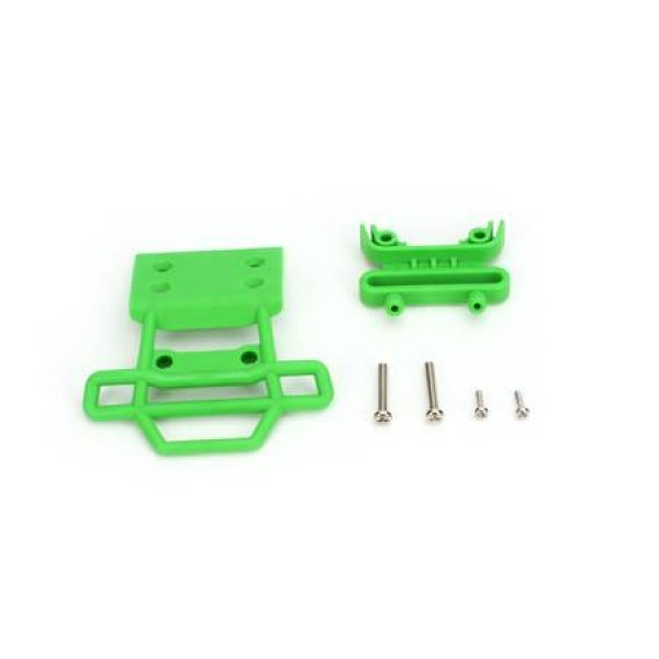 Traxxas Bumper/Mount Fr 4x23mm RM Green (2)