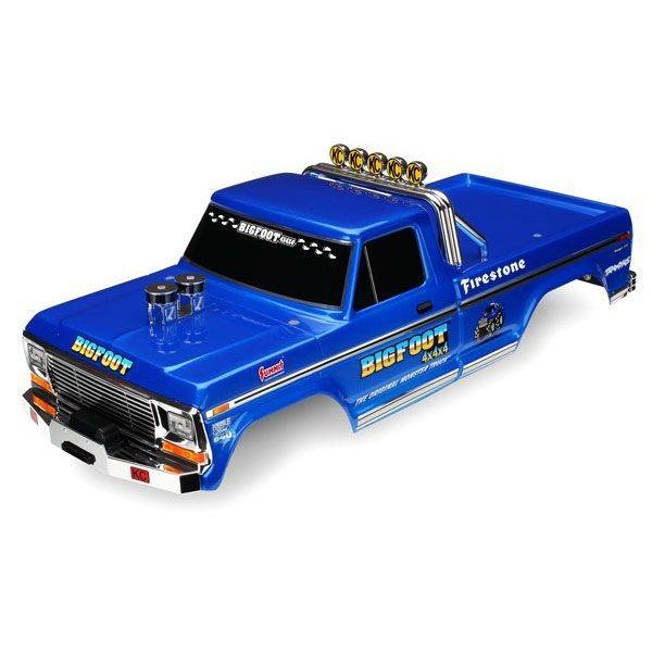 Traxxas Bigfoot® Flame Body Officially Licensed replica (painted, decals applied)