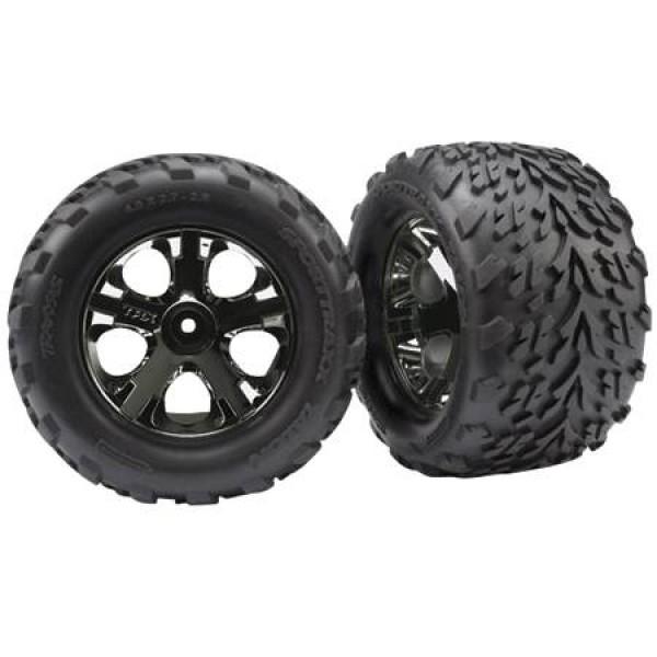 Traxxas All-Star Black Chrome Wheels Talon Tires
