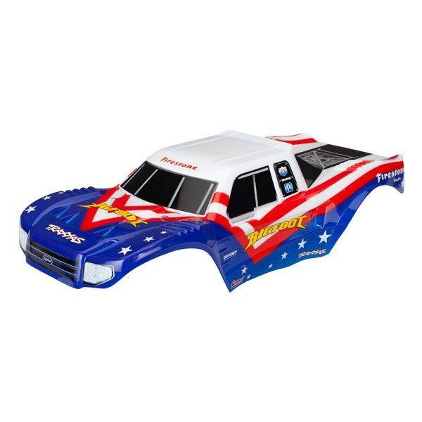 Traxxas Bigfoot® Red White, & Blue Body Officially Licensed replica (painted, decals applied)