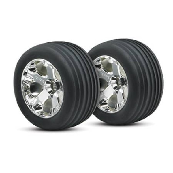 "Traxxas Alias Tires/All-Star Wheels Assembled Front 2.8"" (2)"
