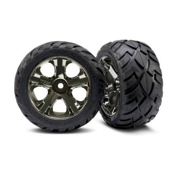 Traxxas Front All-Star Wheels+Anaconda Tires (2)