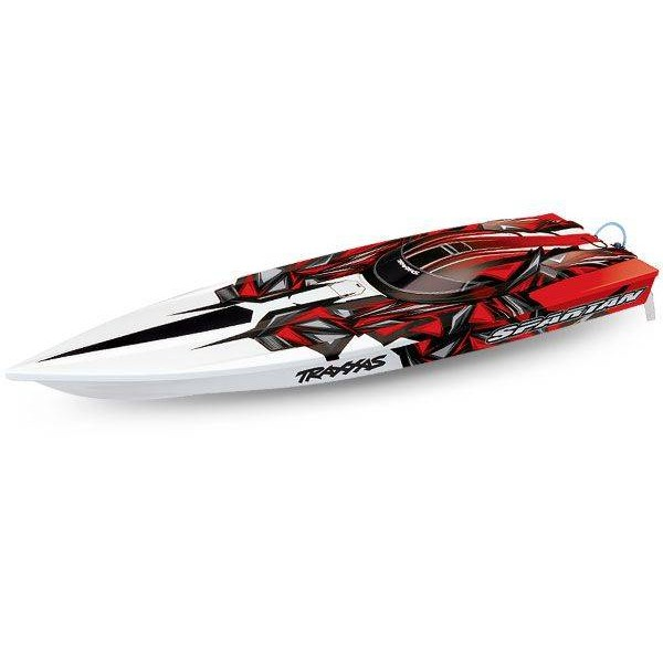 """Traxxas Spartan Brushless 36"""" Race Boat with TSM, Red"""