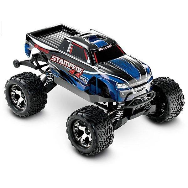Traxxas Stampede 4X4 VXL 1/10 4WD Brushless Monster Truck, Blue