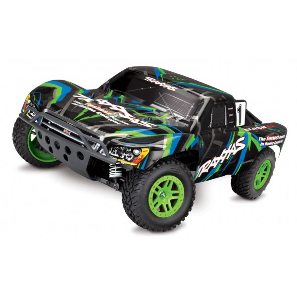 Traxxas Slash 4X4 1/10 RTR 4WD Brushed Short Course Truck (green)