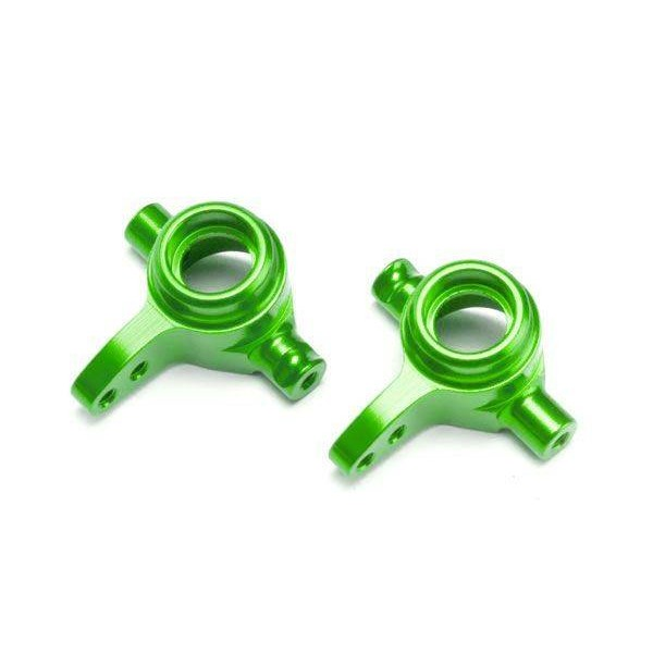 Traxxas Aluminum Steering Blocks (green-anodized), left & right