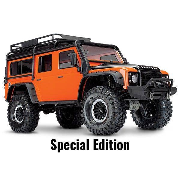 TRX-4 Scale and Trail 1/10 4WD Crawler with Land Rover Body, Orange