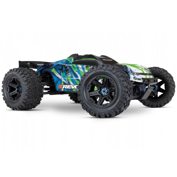 E-Revo VXL Brushless 1/10 4WD Monster Truck with TQi Link and TSM, Green