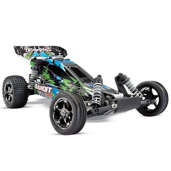 Traxxas Bandit VXL 1/10 Off-Road Buggy RTR with TQi 2.4GHz Radio and TSM, Green