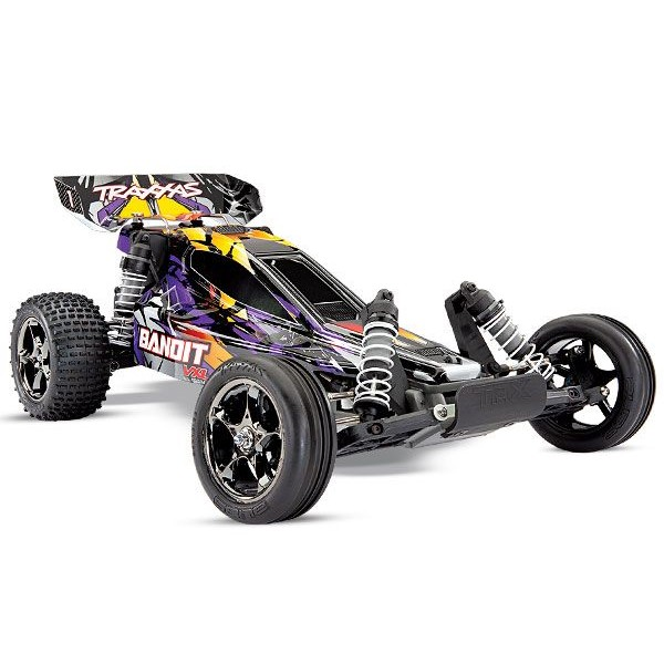 Traxxas Bandit VXL 1/10 Off-Road Buggy RTR with TQi 2.4GHz Radio and TSM, Purple