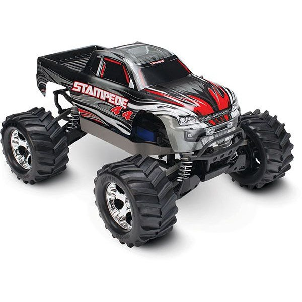 Traxxas Stampede 4x4 1/10 Electric Monster Truck, SILVER