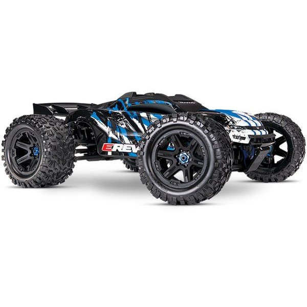 E-Revo 2 VXL Brushless 1/10 4WD Monster Truck with TQi Link and TSM, Blue