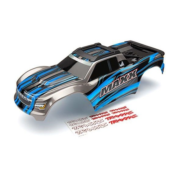 Traxxas Maxx Body, blue (painted) with decal sheet