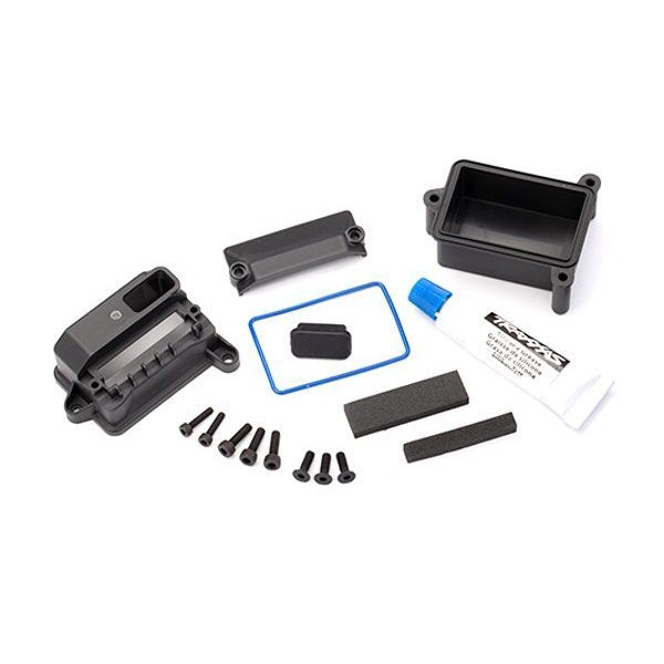 Traxxas Box, receiver, wire cover, foam pads