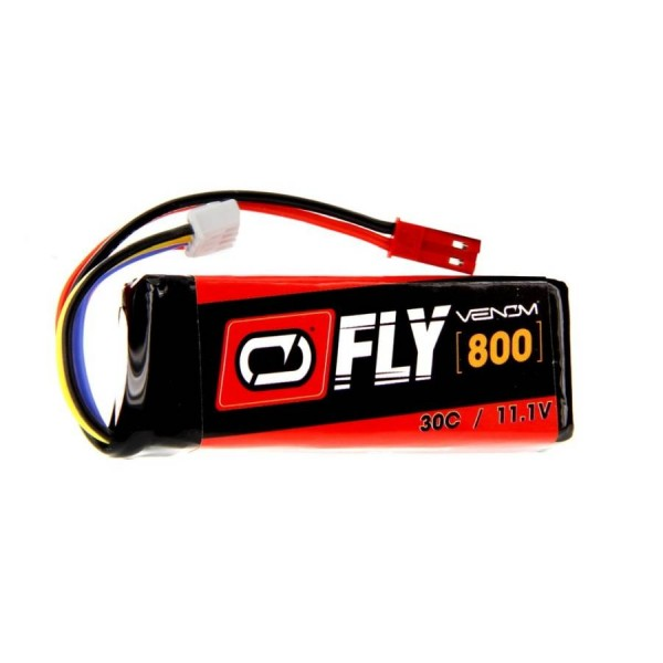 Venom LiPo Pack Battery 800mAh 30C 11.1V (3S) with JST Connector